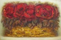 """""""Красные цветы"""" Холст, масло, 40х60, 2011, Цена по запросу"""