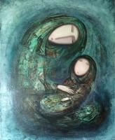 """""""Мать и дитя"""" Холст, масло, 50х40, 2011, продано"""