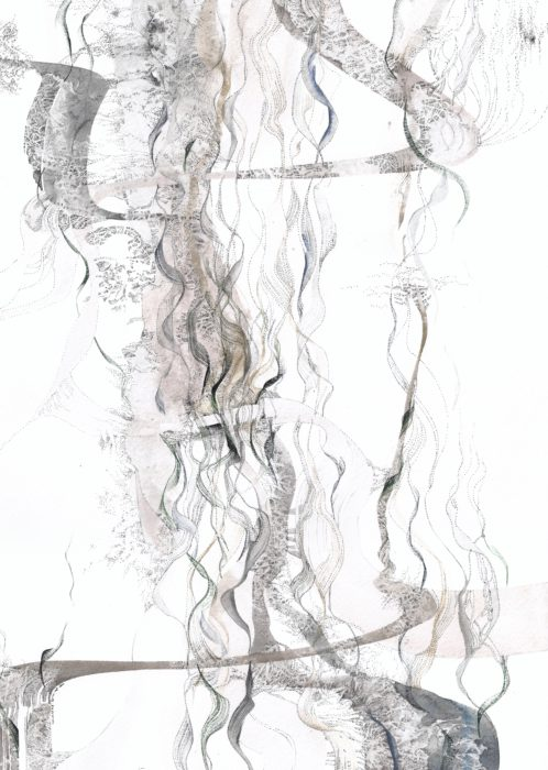 Series «Air», 2017, Watercolour, ink on paper, 41.5x29.5